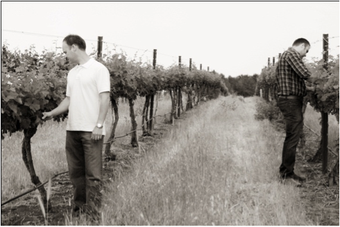 Left: Flint Nelson, Winemaker      Right: Dirk Brink, Assistant Winemaker