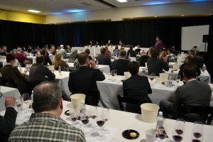 Eighty people filled the room to learn about the taste Yakima Valley wines.